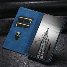 Load image into Gallery viewer, PU Leather Vintage Card Holder Flip Cover Magnetic Cases