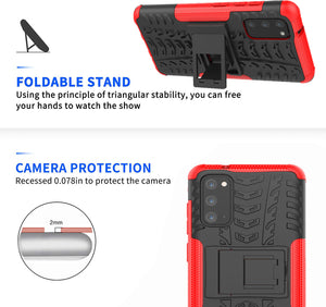 Rubber Hard Armor Cover Case For Samsung Galaxy S20 Series