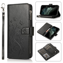 Load image into Gallery viewer, Luxury Zipper Leather Wallet Flip Multi Card Slots Cover Case For iPhone 12Mini