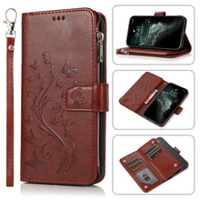 Load image into Gallery viewer, Luxury Zipper Leather Wallet Flip Multi Card Slots Cover Case For iPhone