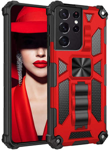 2021 ALL New Luxury Armor Shockproof With Kickstand For SAMSUNG S21Ultra