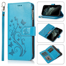 Load image into Gallery viewer, Luxury Zipper Leather Wallet Flip Multi Card Slots Cover Case For iPhone 11/11Pro/11Pro Max