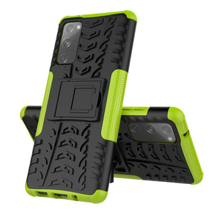 Rubber Hard Armor Cover Case For Samsung