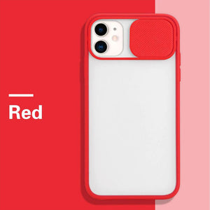 For iPhone 12 Slide Camera Protector TPU Case Cover