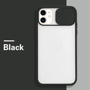 Für iPhone 12 Slide Camera Protector TPU Case Cover
