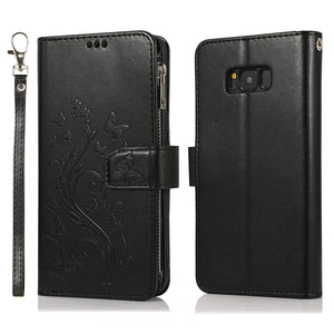 Luxury Zipper Leather Wallet Flip Multi Card Slots Cover Case For Samsung S8/S8PLUS