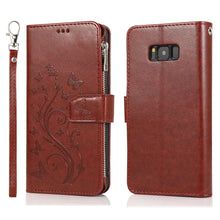Load image into Gallery viewer, Luxury Zipper Leather Wallet Flip Multi Card Slots Cover Case For Samsung S8/S8PLUS