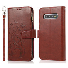 Load image into Gallery viewer, Luxury Zipper Leather Wallet Flip Multi Card Slots Cover Case For Samsung S10/S10Plus/S10E/S10Lite