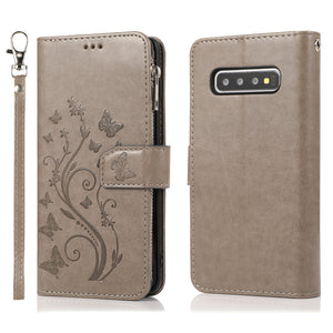 Luxury Zipper Leather Wallet Flip Multi Card Slots Cover Case For Samsung S10/S10Plus/S10E/S10Lite