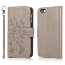 Load image into Gallery viewer, Luxury Zipper Leather Wallet Flip Multi Card Slots Cover Case For iPhone 6/6S