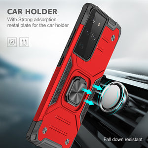 【HOT】Vehicle-mounted Shockproof Armor Phone Case  For SAMSUNG Galaxy S21ULTRA 5G
