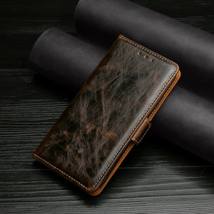Flip Magnetic Soft Leather Wallet Cover Case For Samsung S21Plus