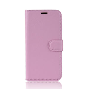Lychee Pattern Wallet Phone Case For Samsung A21