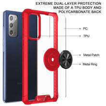Load image into Gallery viewer, 2021 Ultra-thin Four-Corner Anti-Fall Magnetic Ring Case For Samsung Note 20/Note 20Ultra