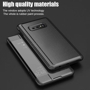 【SPECIAL OFFERS】Luxury Leather Flip View Smart Case For Samsung And Huawei