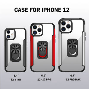 Compatible with Apple iPhone 12/12 Pro/12 Pro Max/12 mini Case|360 Degree Rotation Universal Finger Ring Kickstand