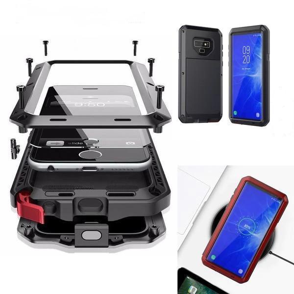 Luxury Doom Armor Waterproof Metal Aluminum Phone Case For Samsung Note8