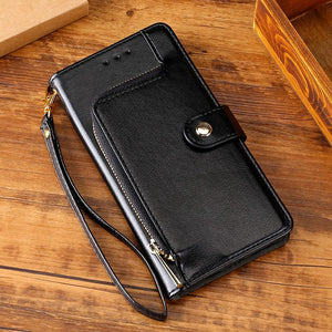 Alle neuen, multifunktionalen Zipper Brieftasche Leder Flip iPhone Case