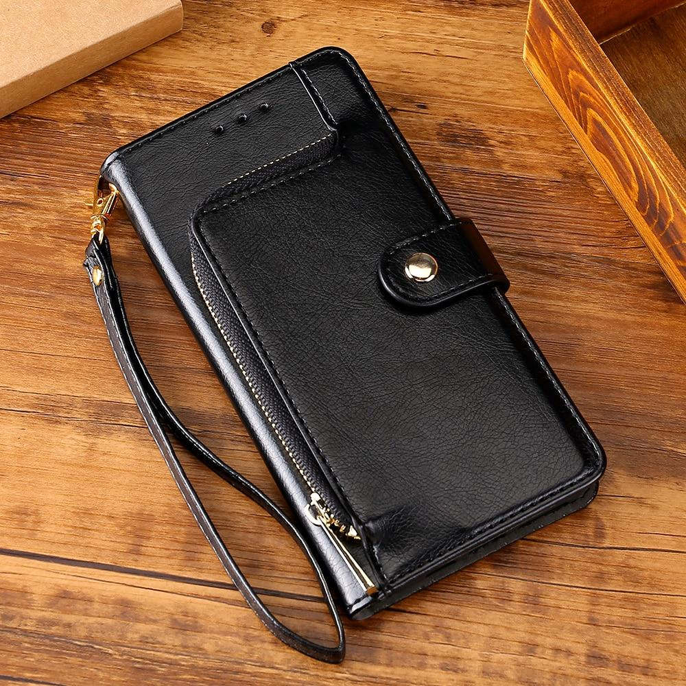 All New Multifunctional Zipper Wallet Leather Flip Case For Oneplus 8