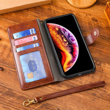 Laden Sie das Bild in den Galerie-Viewer, Alle neuen, multifunktionalen Zipper Brieftasche Leder Flip iPhone Case