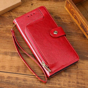2021 All New Multifunctional Zipper Wallet Leather Flip Phone Case For Samsung