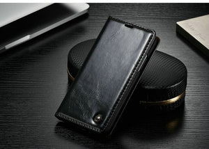CaseMe Wallet Leather Case Smooth Luxury Magnetic Credit Card Money Cash Stand Case