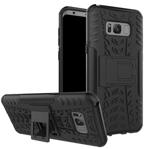 Rubber Hard Armor Cover Case For Samsung Galaxy S8/S8 Plus