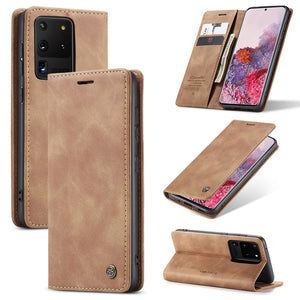 【2021 NEW】CaseMe Retro Wallet Case For Samsung S20 Ultra