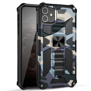 2021 New Luxury Armor Shockproof With Kickstand For iPhone 12