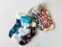 Load image into Gallery viewer, Keep warm and toasty this winter in these soft and cozy socks.  This warm and cozy collection from Pomelo Socks makes for a great gift.