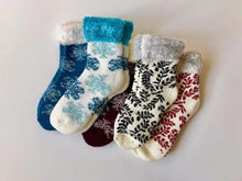 Load image into Gallery viewer, Keep warm and toasty this winter in these soft and cozy socks.  This collection from Pomelo Socks makes for a great gift.