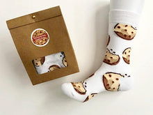 Load image into Gallery viewer, Chocolate Chip Cookie Socks in Gift Bag