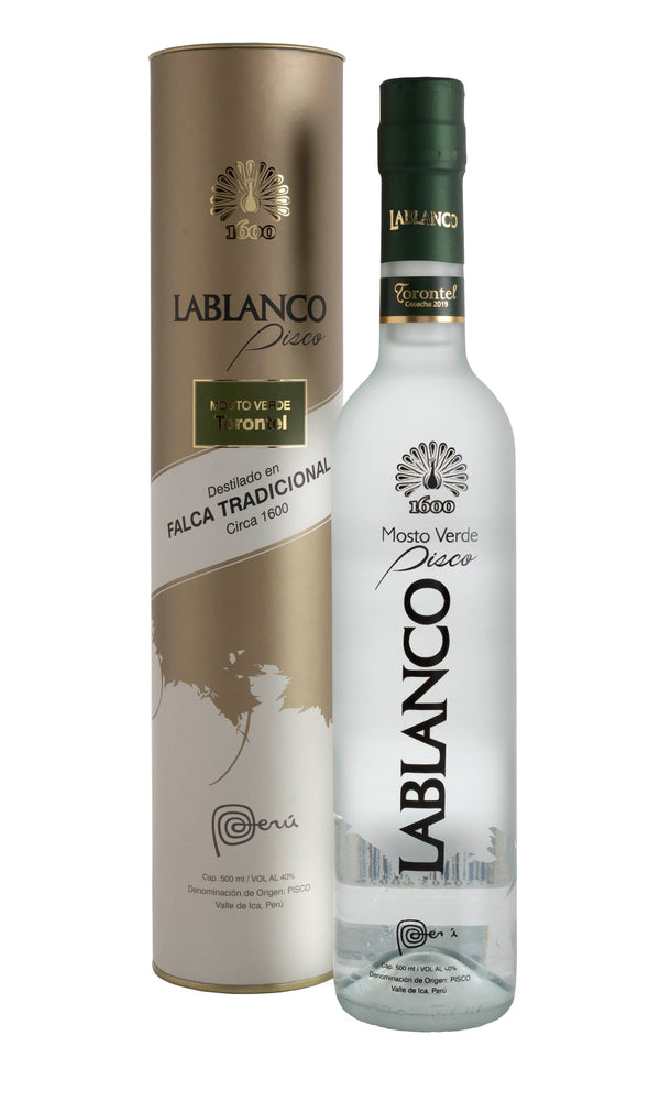 Pisco Lablanco Mosto Verde 500 ml - Pack 4 Botellas