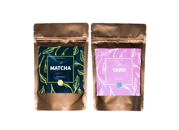 Packs thé matcha + thé taro pour bubble tea nostea
