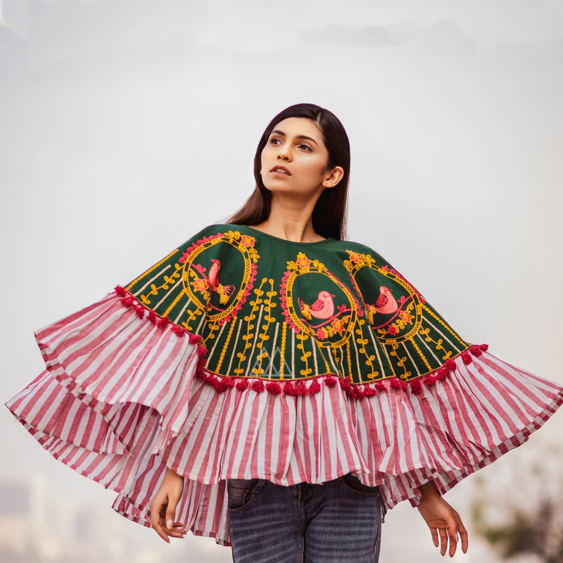 Winters Go Colorful With This Beautiful Poncho STC9014