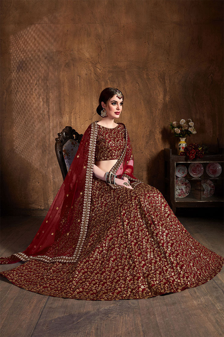 Designer Lehenga Choli In All Over Black Color STC0060