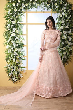 Light Peach Colored Heavy Designer Lehenga Choli STC0044