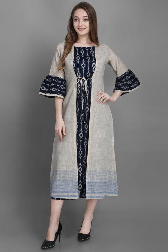 Kurti In Navy Blue Color STC9129