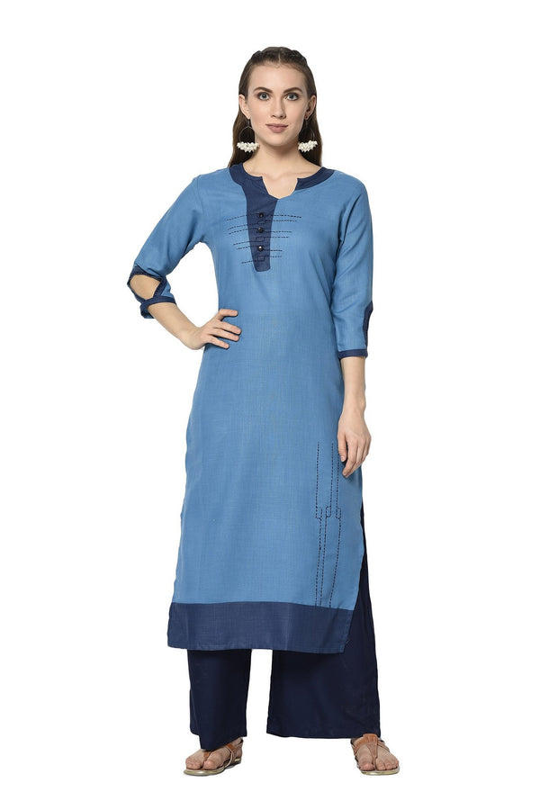 Pretty Kurti In Blue Color STC9122
