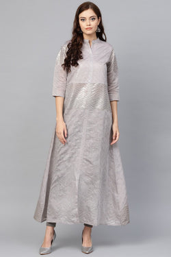 Long Kurti In Grey Color STC9085
