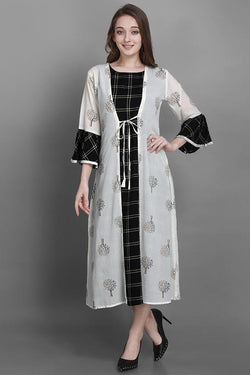 Pretty Kurti In Black Color STC9128