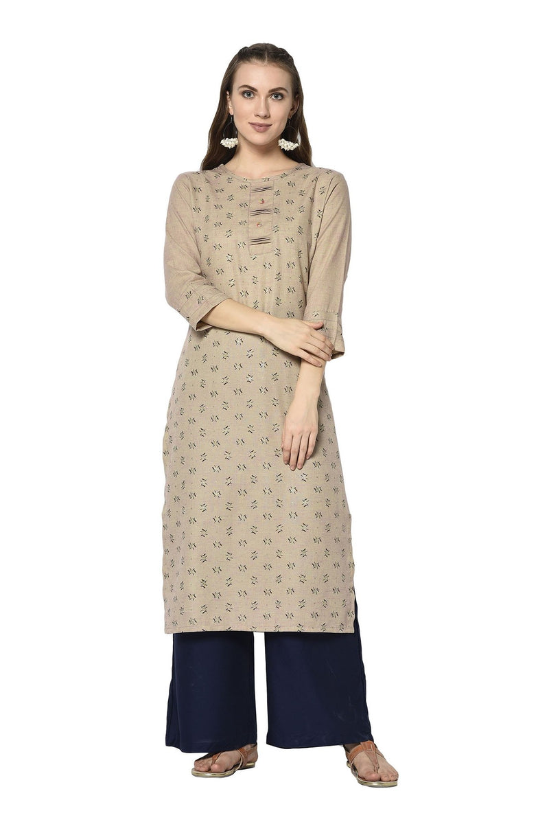 Pretty Kurti In Beige Color STC9124