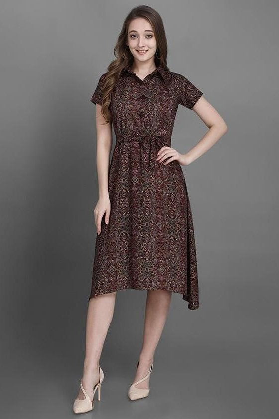 Pretty Kurti In Brown Color STC9126