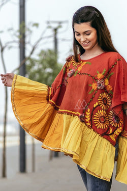 Winters Go Colorful With This Beautiful Poncho STC9012