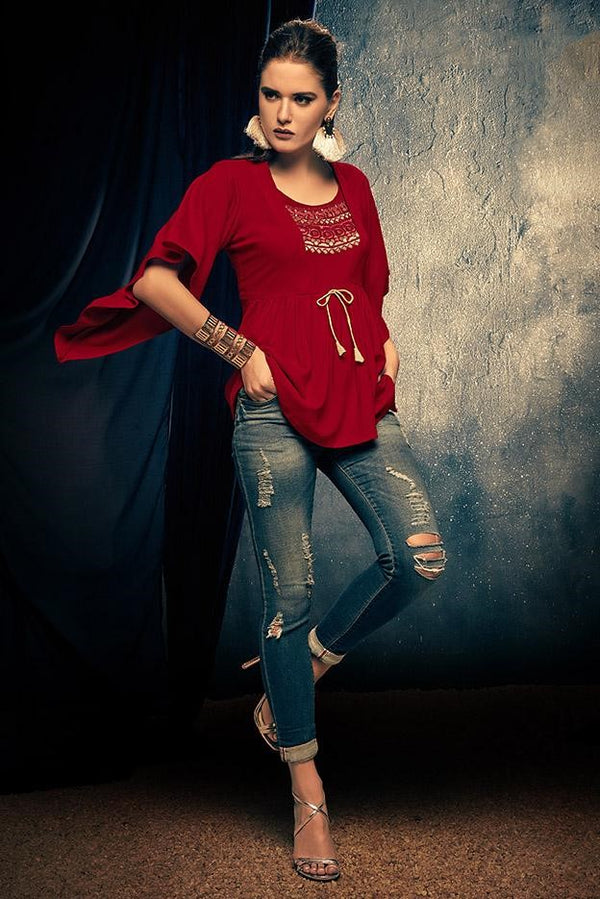 Top In Red Color STC9108