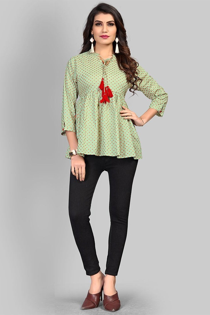 Top In Light Green STC9135