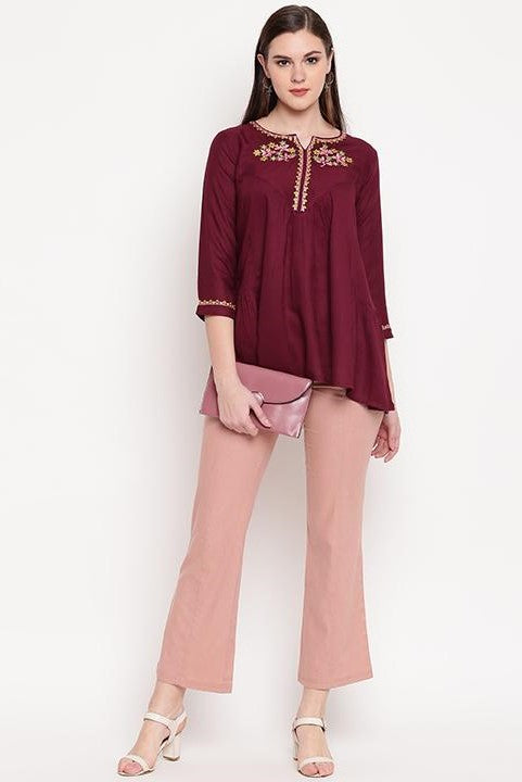 Top In Maroon STC9136