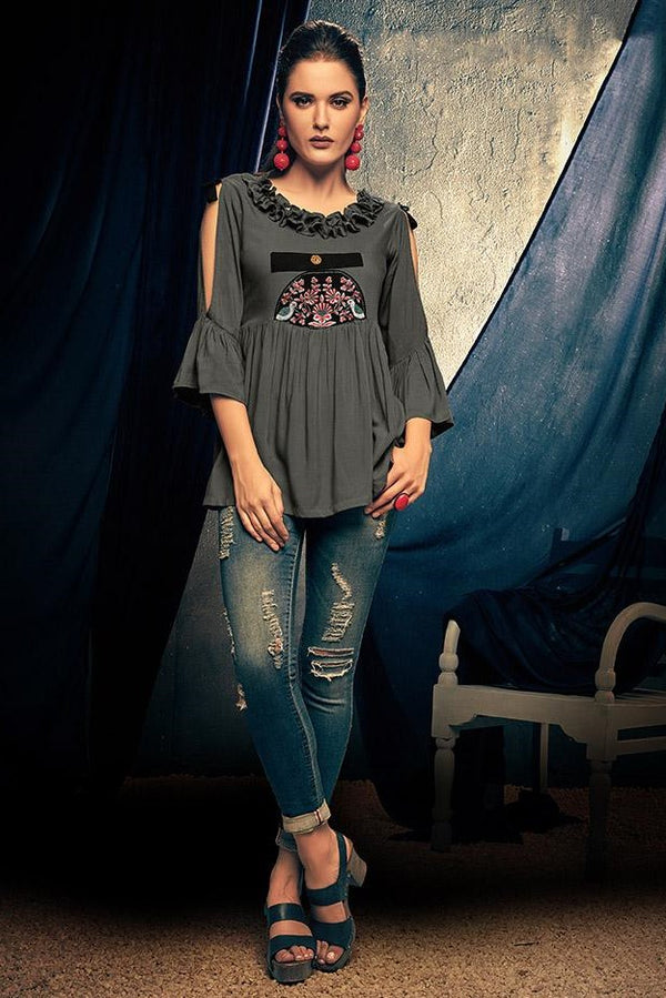 Top In Grey Color STC9109