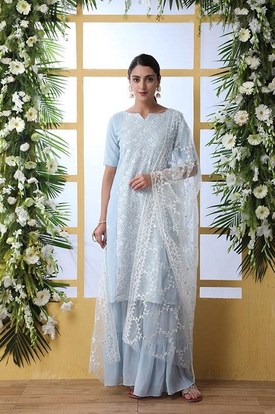 Designer Suit Is Here In Light Baby Blue Color STC 2088