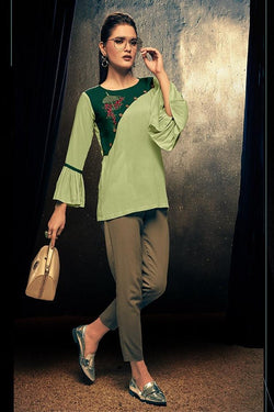 Fancy Top In Green Color STC9112
